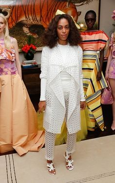 Solange attended Christian Siriano Resort 2016 Collection