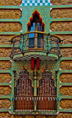 Casa Vicens ~ The work of Antoni Gaudi.  Barcelona