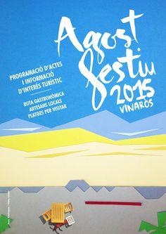 AGOST FESTIU Portada libro fiestas y actividades Verano 2015 Vinaròs. Diseño: Triloby estudio Publi-vaquer