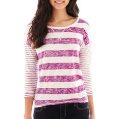 Arizona Drop-Shoulder High-Low Tee  found at @JCPenney in armory grey though