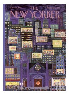 The New Yorker Cover - December 16, 1961 by Ilona Karasz. Print from Art.com, $157.00