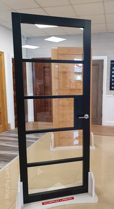 New to our Showrooms this fabulous Doras Crittall door. Comes with safety toughened glass. Available from our Showrooms and online. Walnut Doors, Oak Doors, 4 Panel Shaker Doors, Frosted Glass Door, Glass Doors, Shaker Interior Doors, Crittal Doors, Sliding Door Rail, Primed Doors