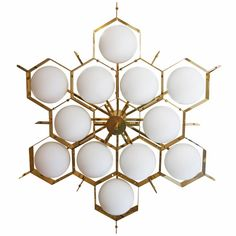 Limited Edition Flush Mount Chandelier by Fedele Papagni | From a unique collection of antique and modern chandeliers and pendants at https://www.1stdibs.com/furniture/lighting/chandeliers-pendant-lights/