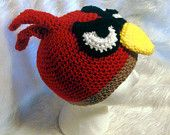 another adorable Angry Birds hat! @Lucy Hellein