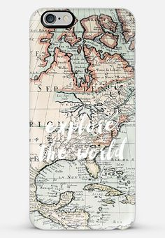 explore the world iPhone 6 Plus case by Sylvia Cook | Casetify #iphonecase #casetify #map #typography Make yours and get $10 off using code: 8I2VFF