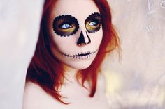 Scary Face Paint Skull Bride