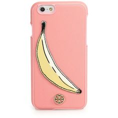 Tory Burch Banana Saffiano Leather iPhone 6 Case (94 AUD) ❤ liked on Polyvore featuring accessories, tech accessories, apparel & accessories, pale orchid, tory burch and tory burch tech accessories