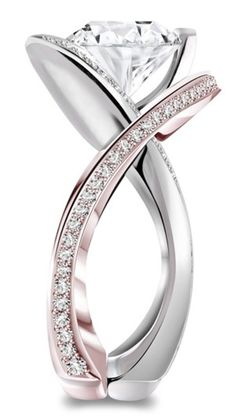Rose and white gold