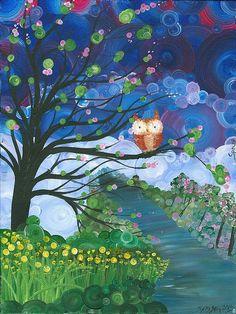 Hoolandia Owl Seasons - Spring, by MiMi Stirn