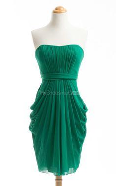 Graceful Dark Green A-Line Halter Chiffon Bridesmaid Dress(BSD181) - MyBridesmaid.co.nz