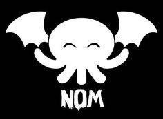 Cthulhu Nom - Vinyl Decal Window or Wall Sticker