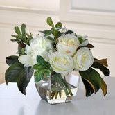 Found it at Wayfair - Jane Seymour Botanicals Mixed Bouquet in Glass Vase