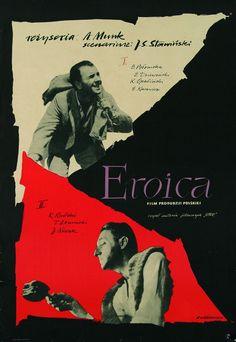 """Roman Cieślewicz, plakat do filmu """"Eroica"""", reż. A. Munk, 1957, fot. Muzeum Plakatu w Wilanowie"""