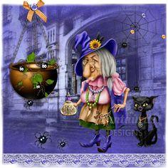 Anntaurus Designs 'Wickedy Witch' Digital Scrapbook Kit.