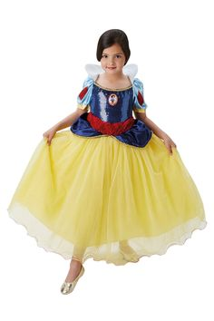 Buy Rubies Yellow Snow White Premium Fancy Dress Costume from the Next UK online shop Halloween Fancy Dress, Cute Halloween, Snow White Costume, White Costumes, Baby Disney Characters, Snow White Disney, Evil Queens, Disney Princess Dresses, Girl Costumes