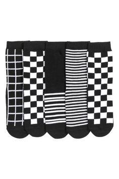 Pack de 5 calcetines: Calcetines de punto fino en mezcla de algodón con distintos diseños.