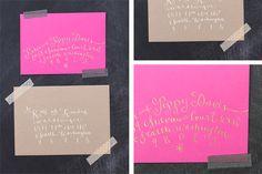 la Happy - calligraphy