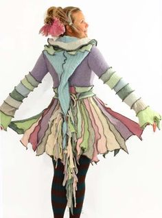 Katwise - Fairy-inspired coat - someday I'll find a pattern and try this myself.