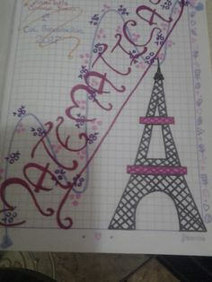 Marcado de la torre eiffel Studyblr, Letters And Numbers, Kawaii, Sketchbook Cover, Decorated Notebooks, Creative Notebooks