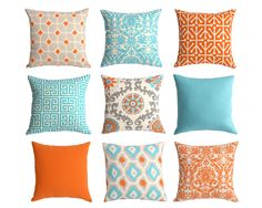 Throw Pillow Covers Set Of Three 18 X Orange By Thepillowpeople Projects To Try Pinterest Pillows And Living Rooms