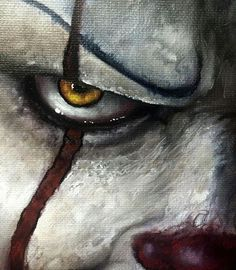 Pennywise acrylic painting,so cool Pennywise Painting, Pennywise The Dancing Clown, Arte Horror, Horror Art, Horror Movies, Scary Paintings, Scary Wallpaper, Horror Drawing, Creepy Clown
