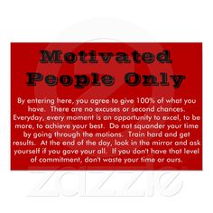 Motivated People