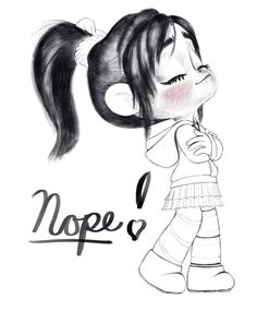 Vanellope - NOPE! by artistsncoffeeshops. A very cute picture of Vanny ^^