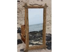 "Coffee Tree Rectangular Mirror 18""x36"" - Coastal Living. Coffee Tree Rectangular Mirror: here is a beautiful hand made coffee tree mirror rectangular shape, large. This mirror will add a nice coastal accent to your bathroom, living room or any places for your home decor. Size 18"" X 36"""
