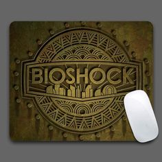 bioshock Rubber Soft Gaming Mouse Games 180mmX220mmx2mm Black Desk Mousepads