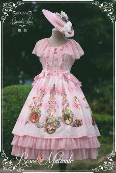QL Qing Ling + RoséeMatinale morning dew garden + dress JSK [limited sale] - Taobao global Station