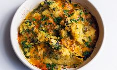 A vegetarian dish that's perfect for a warming midweek supperPeel of swede then cut it into large chunks. Place the swede in a steamer basket over a pan of boiling water, then cook it for about 30 minutes until soft. Vegetarian Dish, Vegetarian Recipes, Cooking Recipes, Healthy Recipes, Savoury Recipes, Leek Recipes, Quick Recipes, Cooking Ideas, Healthy Meals