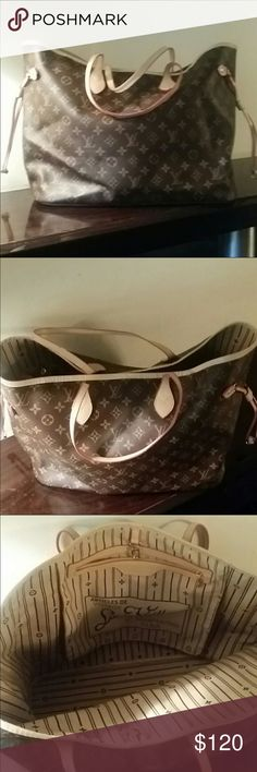 LV neverfull tote Neverfull LV bag, bought from another Poshmark account, but I never use it. Bought for 200, selling for 120 or best offer. Make me an offer! Bag is in great condition, no signs of wear. Louis Vuitton Bags Totes