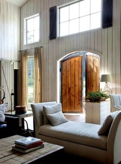 Barn house by Lakhesys. I've been in a converted barn house, they are incredibly beautiful! Barn Living, Home And Living, Cozy Living, Country Living, Style At Home, Sweet Home, Converted Barn, Home Fashion, Interiores Design