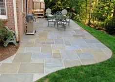 small pavers patio and walkway simple yet elegant design for - Bluestone Patio Ideas