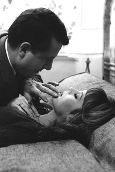 Jean Desailly and Françoise Dorleac in 'La peau douce', Catherine Deneuve, Francois Truffaut, French New Wave, Anna Karina, Art Of Seduction, Thing 1, Skin So Soft, Natural Skin, 1950s