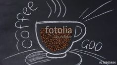 """Download the royalty-free video """"Stop motion of drawing chalk cup on blackboard with coffee beans"""" created by sebos at the best price ever on Fotolia.com. Browse our cheap image bank online to find the perfect stock video clip for your marketing projects!"""