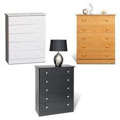 Update your home decor with this five-drawer bedroom chest. Keep clothing and personal items stored neatly in its five spacious drawers. Available in your choice of finishes, this chest will do wonderfully with pre-existing home furnishings.