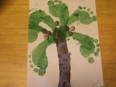 #kids crafts #footprints