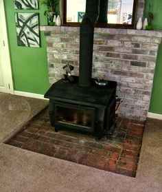 River Rock Fireplace Make over