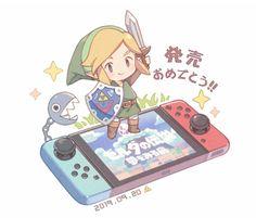 Legend of Zelda Link's Awakening [Remake] inspired concept art > Link > Nintendo Switch design style The Legend Of Zelda, Legend Of Zelda Memes, Legend Of Zelda Breath, Kawaii, Video Game Art, Video Games, Nintendo Characters, Playstation, Twilight Princess