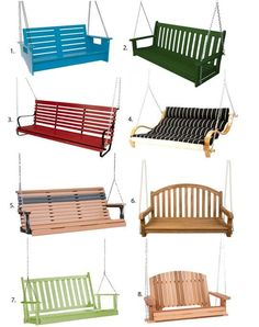 One of my favorite memories of the summers of my youth was sitting on my best friend's porch swing, lazing away the day while gently rocking back and forth. As an adult, I don't have a front porch but if I did, I would definitely be swinging in one of these.