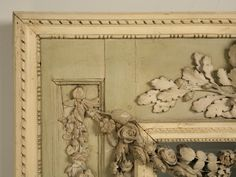 Antique French Original Painted Mirror Rose