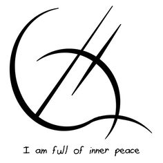 "Sigil Athenaeum - ""I am full of inner peace"" sigil  requested by..."
