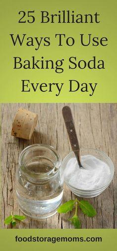 25 Brilliant Ways To Use Baking Soda Every Day-Cheap Storage Item Baking Powder Uses, Baking Soda Uses, Baking Soda Face, Baking Soda Shampoo, Baking Soda Drain Cleaner, Natural Kitchen, Odor Remover, Hair Starting, Dog Shampoo