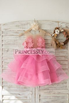 High quality lace /tulle made flower girl dress; Sheer neckline with side zipper closure; Big pattered cotton lace ... Shop now use NYC2018 for 9% off TODAY!