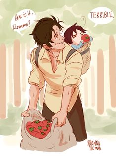 Antonio and little Lovino - Art by johannathemad.tumblr.com