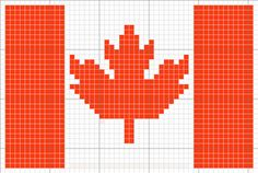 Cro Knit Inspired Creations By Canada Flag, Canada Maple Leaf, Olympics, Charts By Leaf Knitting Pattern, Knitting Charts, Knitting Stitches, Knitting Patterns, Cross Stitch Charts, Cross Stitch Patterns, Modele Pixel Art, Canada Maple Leaf, Iron Beads