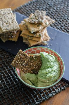 Cannellini Herb Dip: Creamy cannellini beans are blended with fresh herbs for a green, festive dip that everyone will enjoy. // Bob's Red Mill // gluten free, vegan