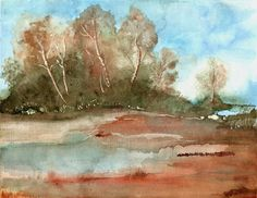 landscape watercolour painting by artist Stephanie Kriza www.kriza-art.com