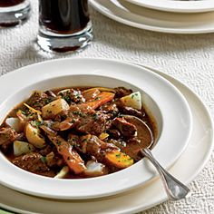 Beef and Guinness Stew | CookingLight.com ~ Hands down, my favorite beef stew recipe!